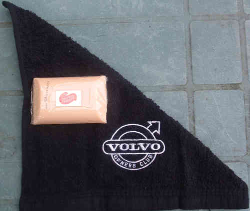 VOC EMBROIDERED FLANNEL +SOAP SET